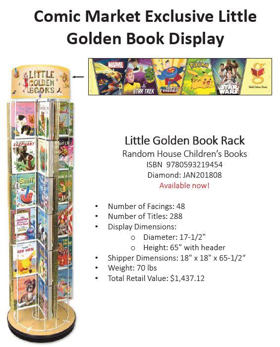 Comic Market Little Golden Book Spinner Rack